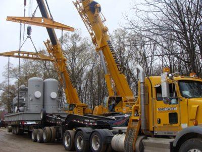 Natural Gas Compressor Set Crane Project