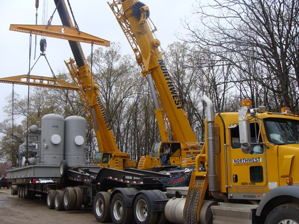 Natural Gas Compressor Set Crane Project