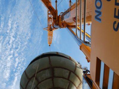Erecting a 500,000 Gallon Water Tower In Stillwater, OK