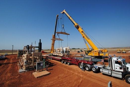 Tandem Crane Gas Compressor Set in Geary, OK