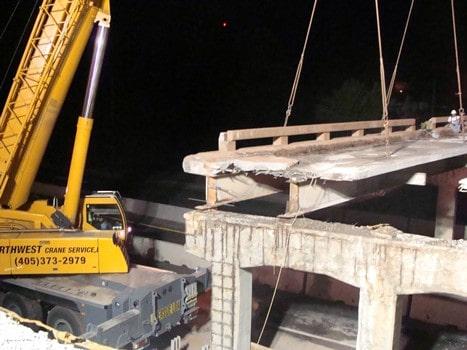 Bridge Deck Dismantle on I-44 Turnpike