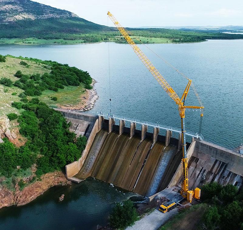 LTM 1450 - 8.1 - Bridge Dam - Lake Lawtonka