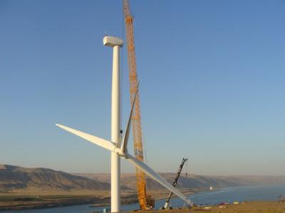 Northwest Crane's Liebherr LR1600/2 on site in Portland, OR