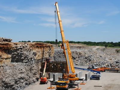 Erection of New Rock Crusher
