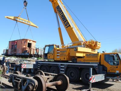 Shawnee Rail Yard Gets Lift With LTM 1100-4.1